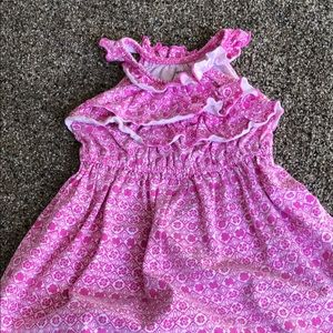Pink and white toddler girl dress